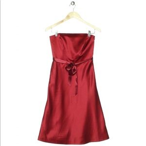 Ann Taylor Red Strapless Dress